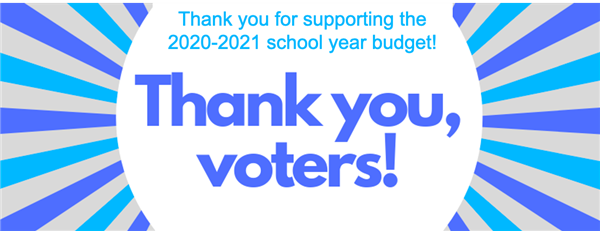 Thank you, Voters!